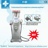 Mechanical vacuum rf roller+Zerona cold laser fat removal +cryotherapy super slimming machine