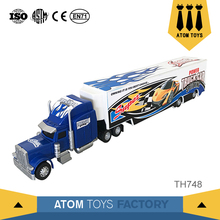 Custom made novel gift diecast 1/12 scale super metal toy truck and trailer for boy