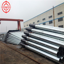 Galvanized 9M 10M 11M Electric Steel Utility Power Pole
