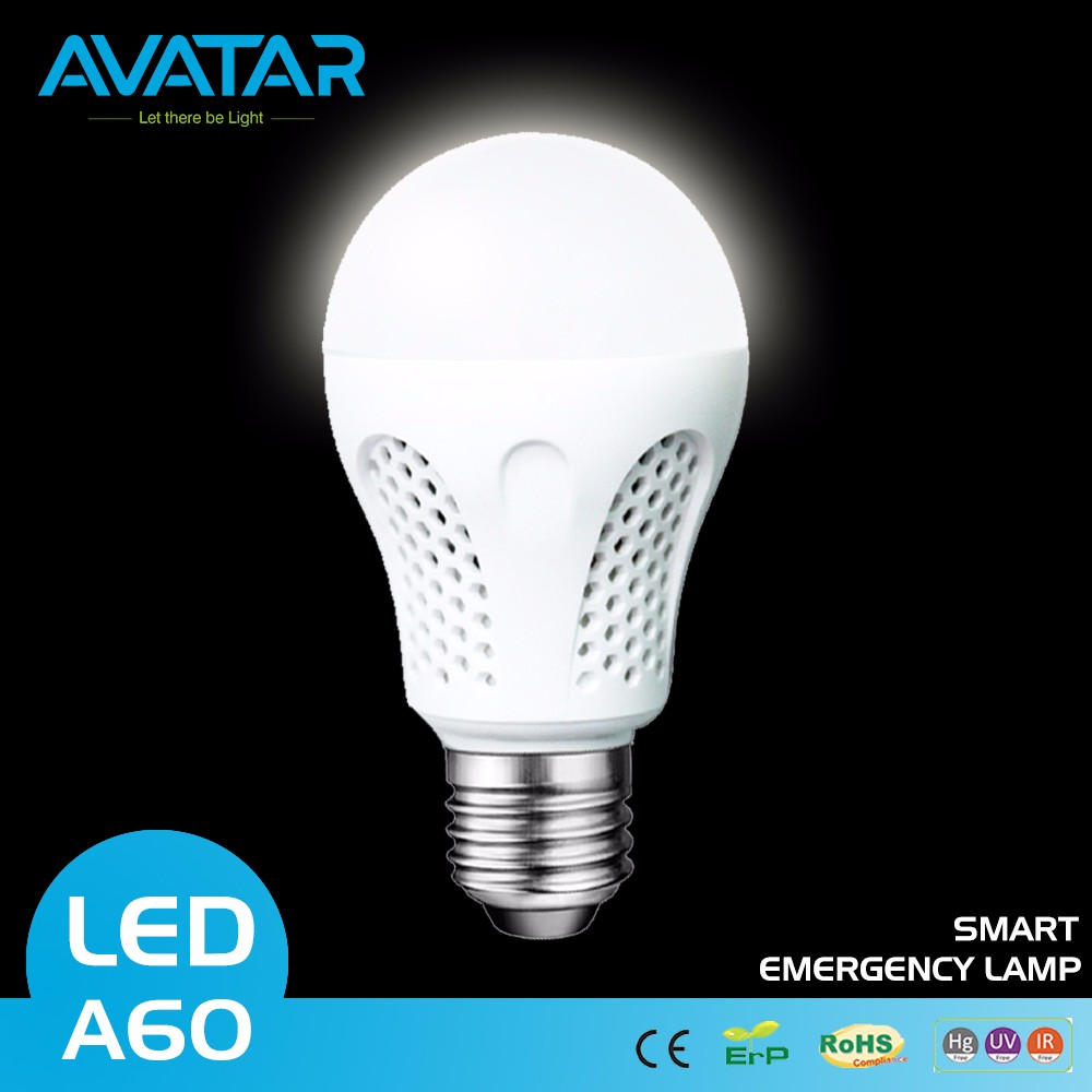 Avatar E27 3W 220V White LED Plastic Bulb With Transparent Lamp Cup