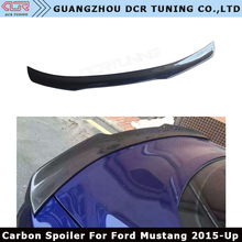 B Style For Ford Mustang Carbon Fiber Rear Carbon Spoiler 2015 - UP Mustang Spoiler Wing 2-Doors Coupe