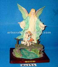 Polyresin angel with kids