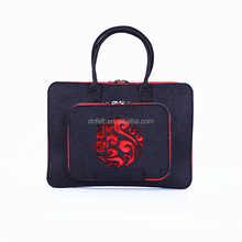 Factory price high quality portable felt laptop sleeves for macbook dell