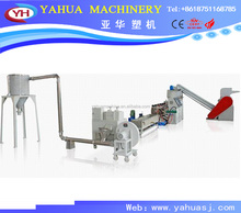 plastic granulators PP PE film recycling line and YAHUA waste plastic pp film recycling pelletizer