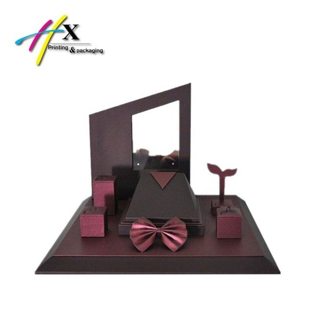 High End Wood jewelry display case display stand