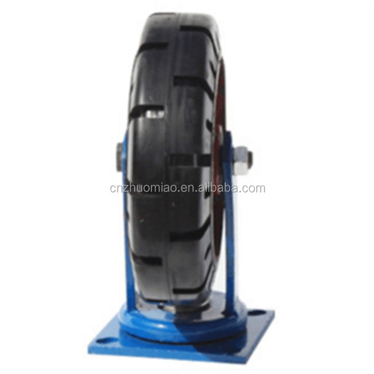 sales 2 tons load capacity Extra heavy duty locking PU casters wheel 6 inch to 12 inch
