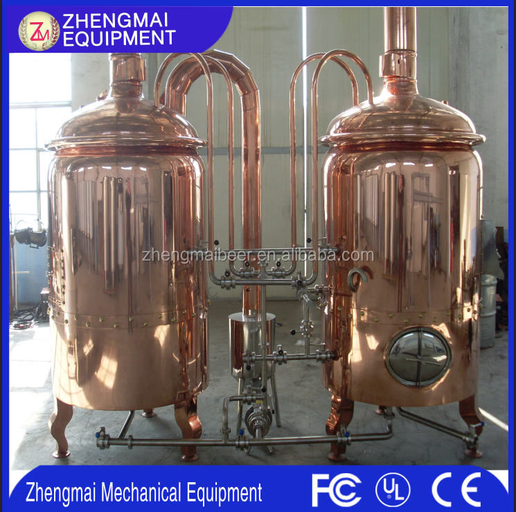 Home brewing equipment copper distillery equipment 200L mash tank in cheap price