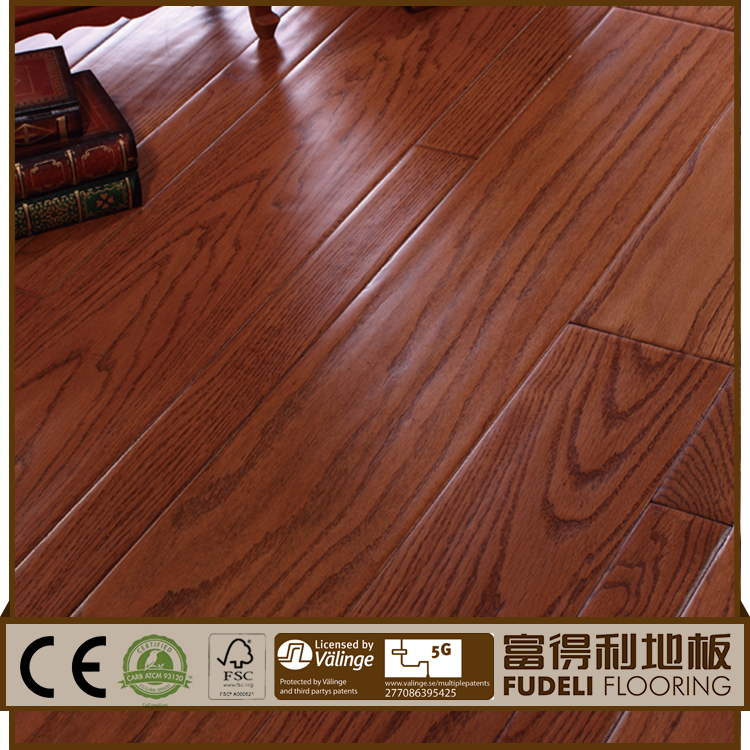 Hot Sale Quality T&G Natural Color Smooth Solid Oak baby wooden floor mat