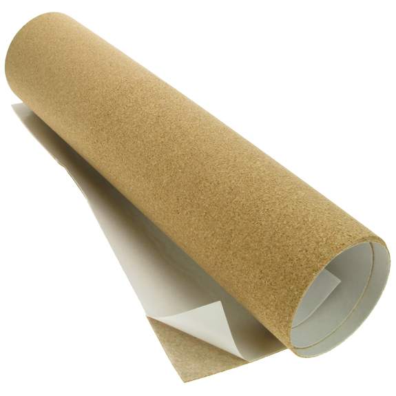 Cork underlay in sheet or roll