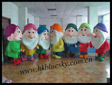 the highest feedback seven dwarfs mascottes for adults