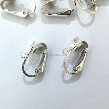 H1340 Sterling Silver Non-pierced Ear Clips with Hanging Loop