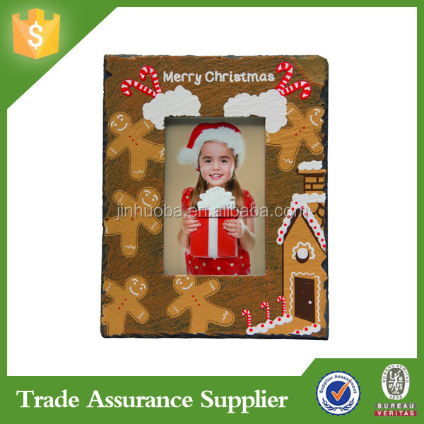 Light Up 4x6 Christmas Gingerbread Resin Picture Photo Frame