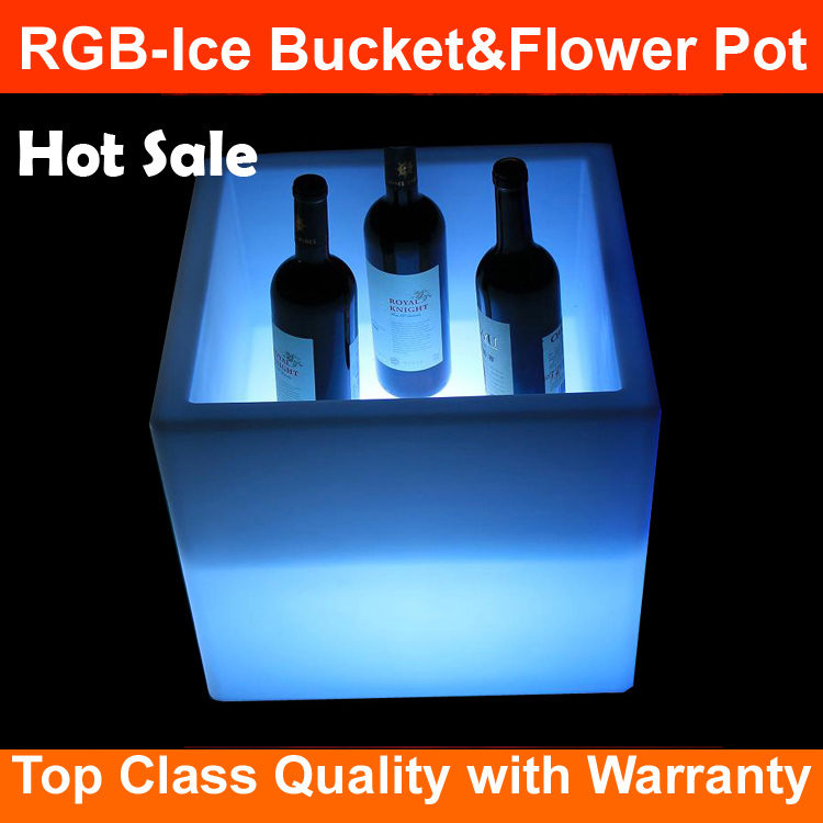 China Factory new waterproof ice cube bucket glowing led rgb ice cube bucket Remote control
