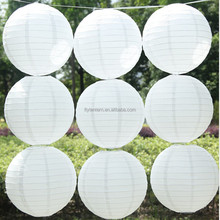 Hot Sale White Chinese paper lantern 8 inch 20 cm Round paper lantern Factory Sale