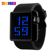 2017 Silicone Cool Led Watches Custom Logo Slap Wrist Watch From Skmei Factory