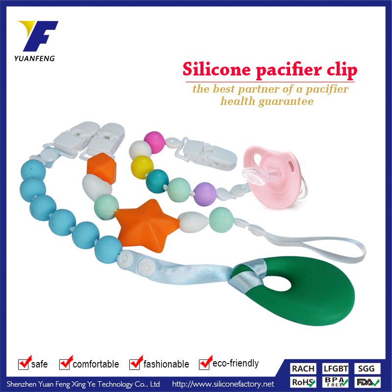 Silicone baby jewelry holder/baby pacifier OEM silicone ring pacifier