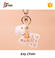 Promotional gifts wholesale souvenir cheap dog shape pu keychain