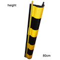 yellow reflective film parking lot rubber corner guard