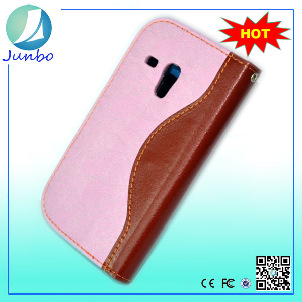 Artificial leather mobile phone wallet cute case for samsung galaxy s3 mini