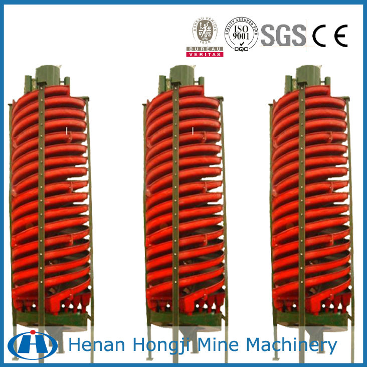 Concentrator spiral chute spiral separator for iron ore upgrading equipments