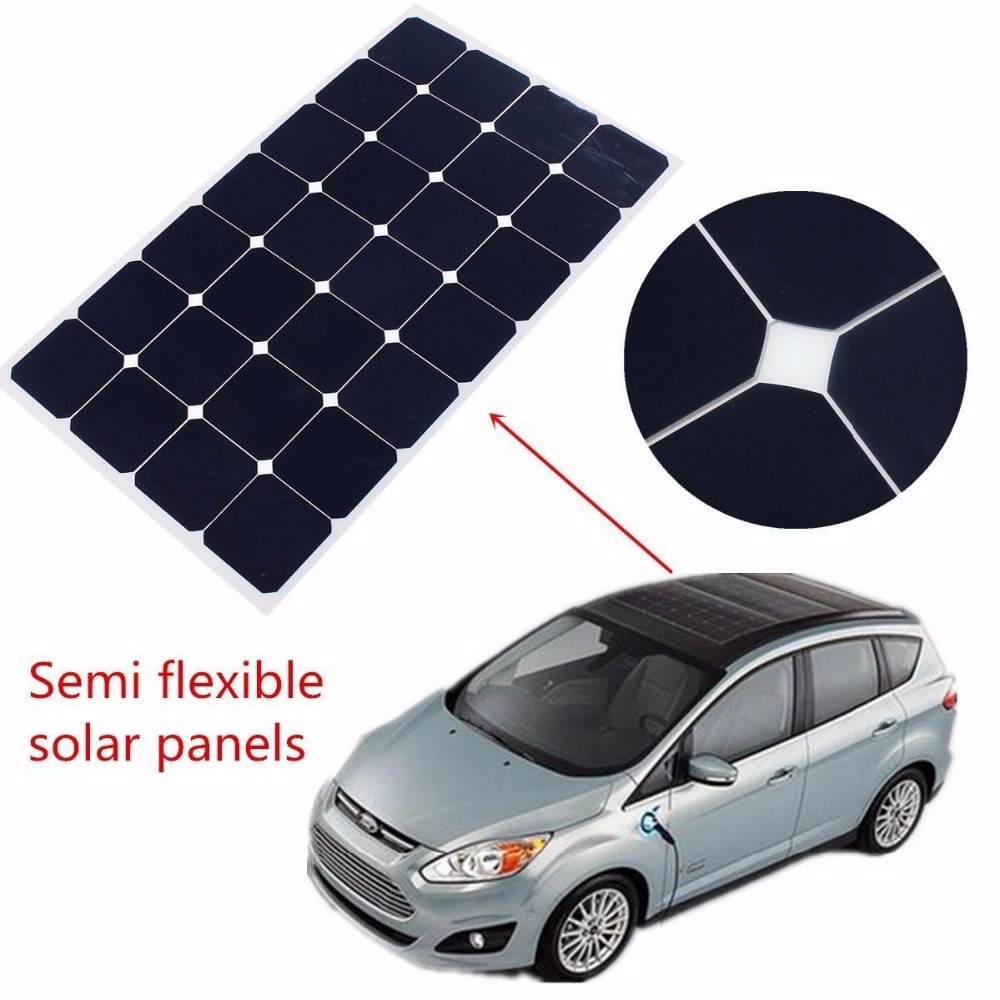 High efficiency solar cell semi flexible 140w precio panel solar
