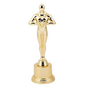 Main product custom design exquisite luxury golden oscar plastic trophy