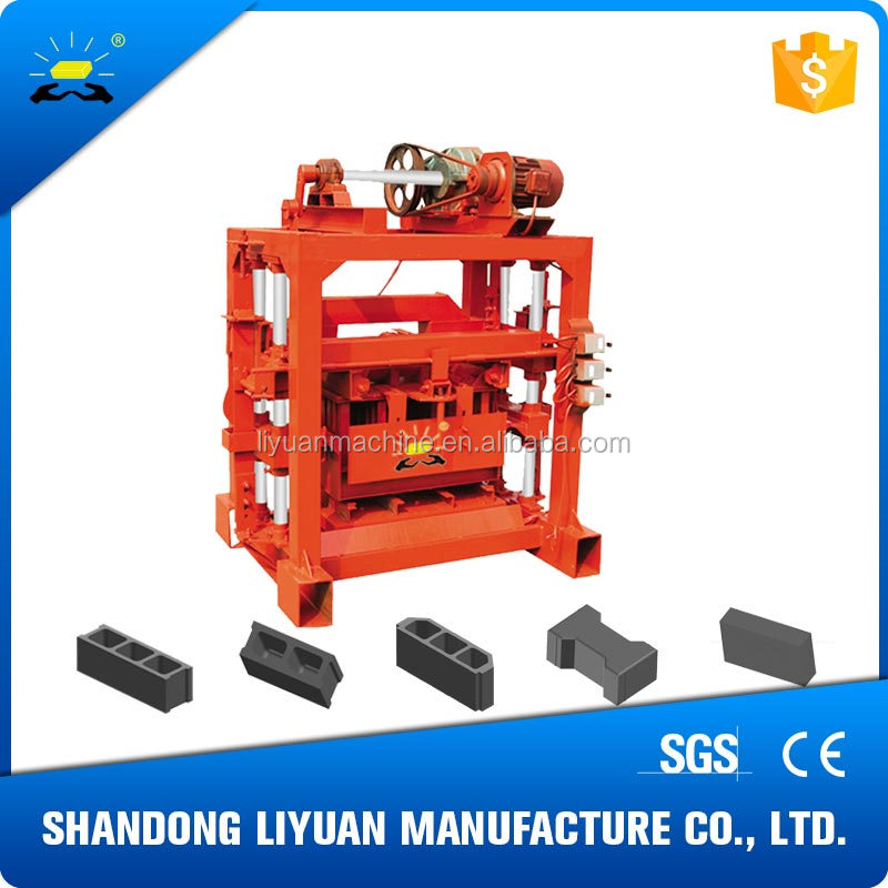 concrete brick machine raw material qtj4-40 hollow block machine make in china brick making machine