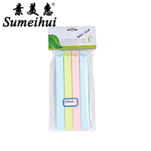 4 pieces new design long shape plastic trash bag colorful snack bread food bag sealing plastic bag clips kitchen