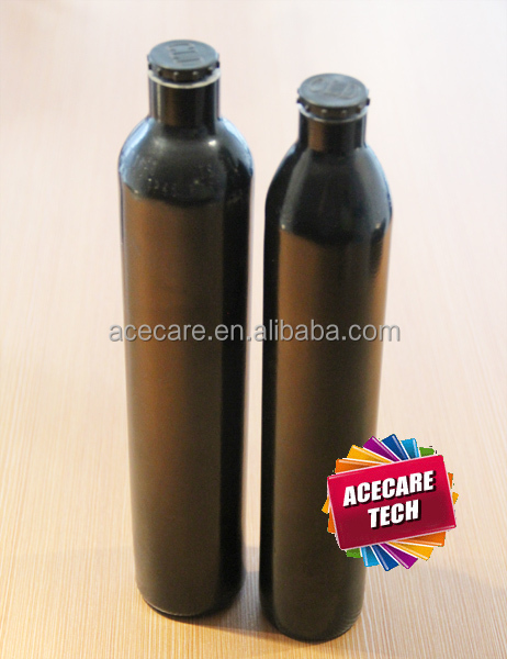 63.2mm diameter CO2 cylinder 0.5L Seamless Aluminum Alloy filled by Compressor from Acecare