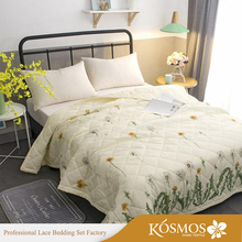 king Nantong Microfiber custom quilted polyester bedcover