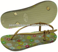 Once Injection fancy flip flop for footwear and promotion,light and comforatable