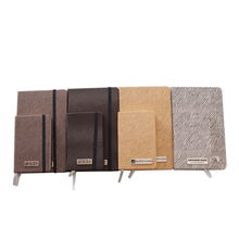 Elastic strap OEM logo available pu leather clear book cover