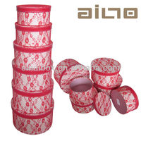Round Paper Hat Box With Fsahion Design
