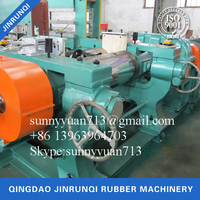 Two Roll Open Mixing Mill Rubber Sheet Making Machine Xk-450