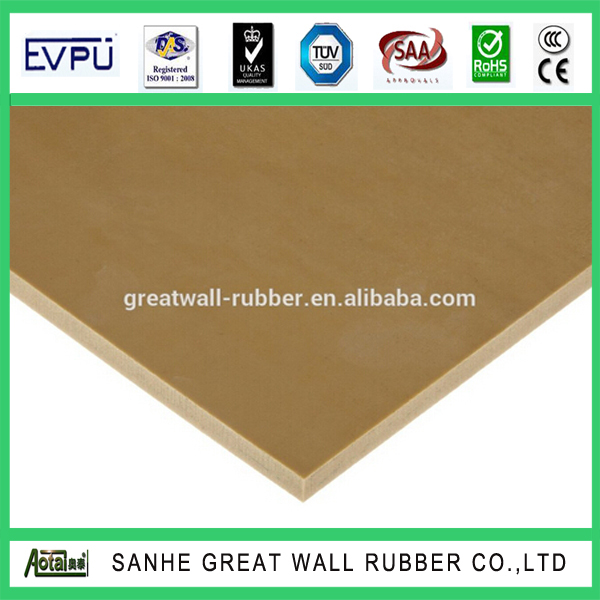 30cm Width Strip 100% Pure Rubber Natural Tan Gum Flooring Mat with ISO9001:2000