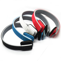 Colorful wireless earmuff neckband small bluetooth V3.0+EDR stereo headphones for laptop