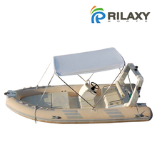 Rialxy 4.8m 16ft PVC or Hypalon Fabric Semi-rigid Inflatable Boat