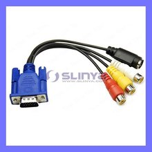 VGA to S-Video 3 female RCA TV AV Converter