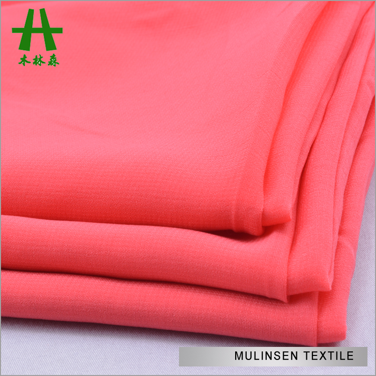 Mulinsen Textile 2017 Cheap Price High Multi 100% Polyester Plain Dyed Bulk Chiffon Fabric For Dress