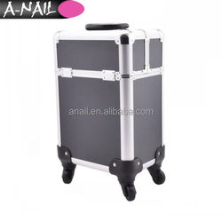 Hand-held Trolley Cosmetic Case High-capacity Nail Make-up Beauty Toolbox Cosmetic Bag with wheel