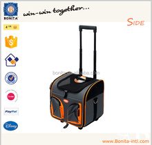 Wholesale travel dog trolley carrier cat trolley pet carrier bag with wheel pet carrier on wheels