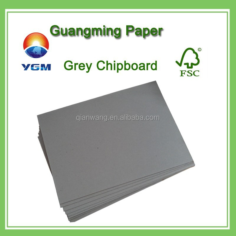700*1000mm laminated grey chipboard / book binding paper