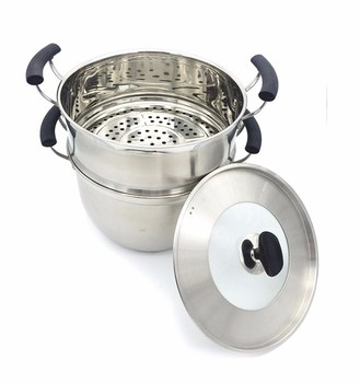High quality Stainless steel steamer pot 2 in 1 / couscous pot cooking pot
