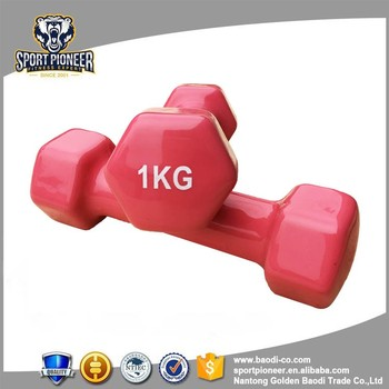 high density 1kg pink dumbbell gym for woman