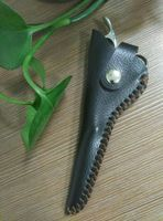 QJ-CP22 Professional real leather hair shears sleeves hairdressing scissor pouches holster