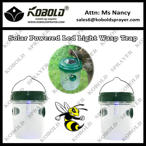 KOBOLD Solar Powered Unique plastic wasp trap/bee catcher With Blue Lamp