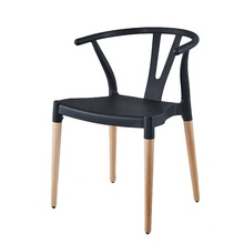 Use for home <strong>furniture</strong> Super quality and competitive priceDurable vintage black wishbone plastic chair with wood leg
