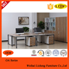 Modern office furniture working desk/simple steel legs office table sell