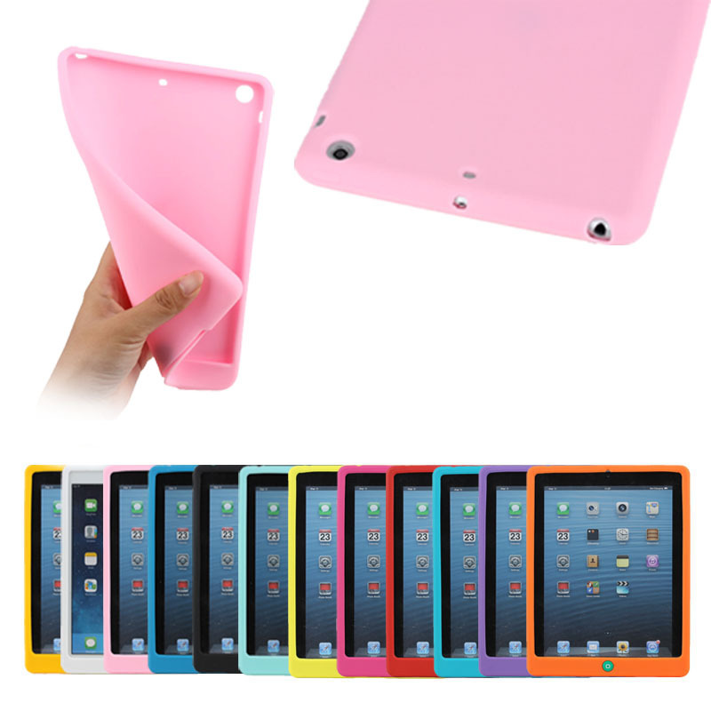 Silicone case for iPad mini 1 2 3 with home button,for iPad mini silicone case