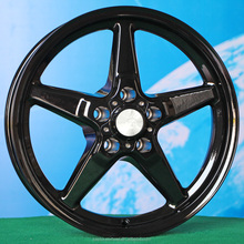 15 inch 17inch black full painting wheels rims for car 5 hole L080